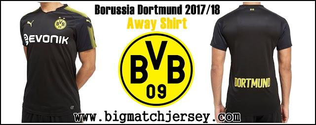 PUMA Borussia Dortmund 2017-18 Away Shirt