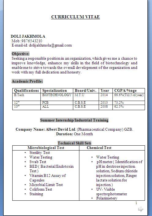 exemple curriculum vitae free download