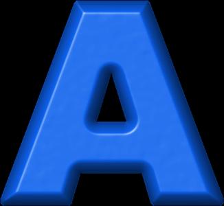 Letras Em Png Alfabeto Azul Moldes Alfabetos Lindos