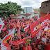 Milhares de pessoas invadem ruas do Angico na inauguração do comitê do 13