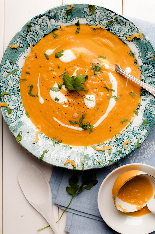 Carrot Thick Soup with Chick-Peas