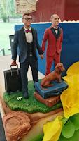 statuine matrimonio milano torta sposi personalizzati tema viaggi orme magiche