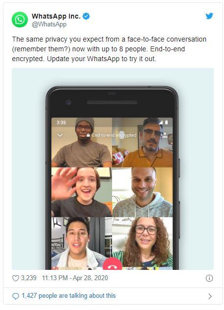 Cara Membuat WhatsApp Bisa Video Call 8 Orang