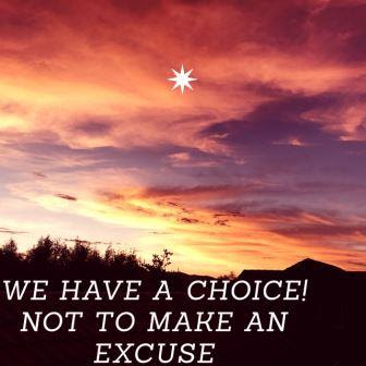 "Canva #quote ""We have a choice"" with sunset background"
