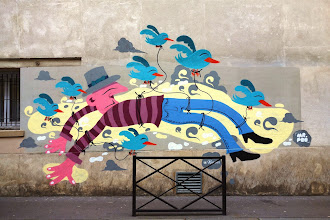Sunday Street Art : Mr Pee  pour l'assoc' le Ratrait - rue du Retrait - Paris 20