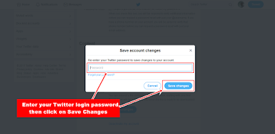Twitter Login Password