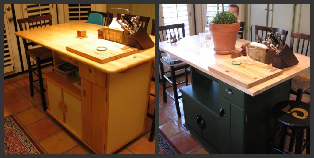 Kitchen Cart Table Faucet Clearance Dusty Coyote Turning A Into Island Before And After