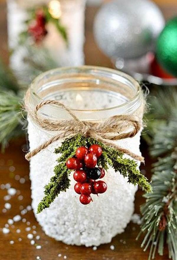7 adornos navideos hechos con tarros de vidrio reutilizados