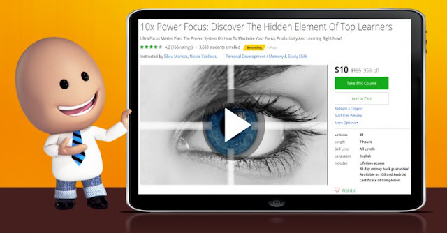 [95% Off] 10x Power Focus: Discover The Hidden Element Of Top Learners|Worth 195$