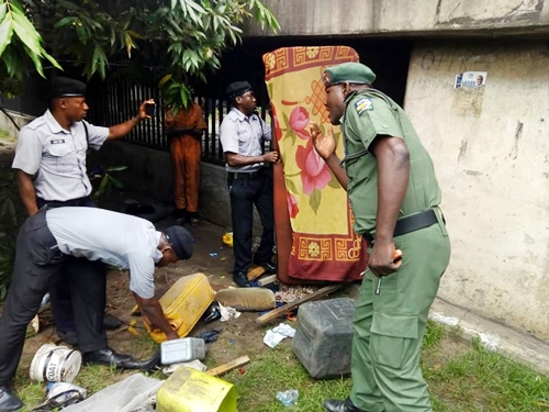 Ritualist Den Uncovered Under Bridge Near Governor's House In Lagos Island (Photos)