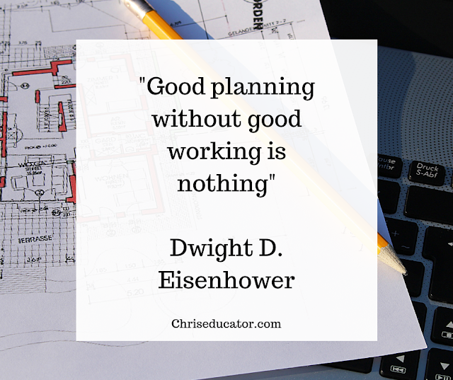 Good planning without Good Work is Nothing- Dwight D. Eisenhower