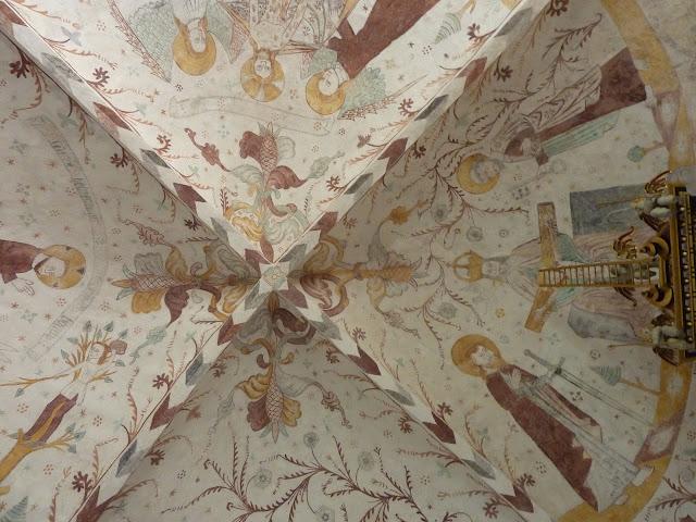 fresques dans l'église d'Elmelunde