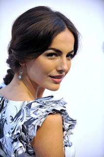 Camilla Belle elegant side braid