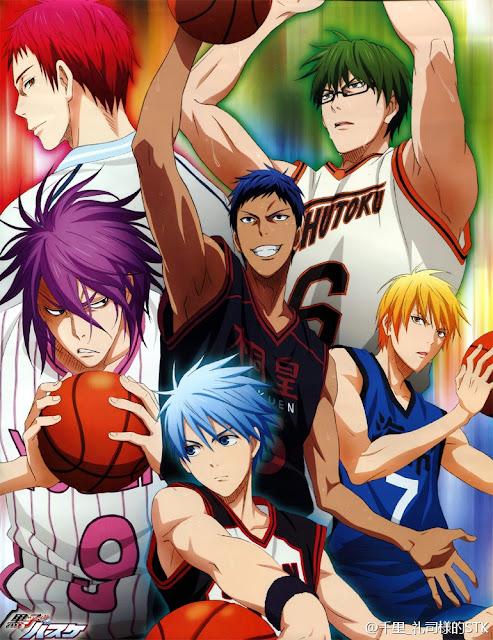"""La Generación de los Milagros de """"Kuroko Kuroko no Basket"""" (黒子のバスケ)."""