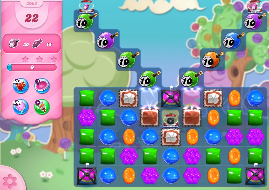 Candy Crush Saga level 3062