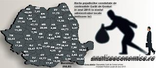 Topul județelor după prejudiciile constatate de Curtea de Conturi