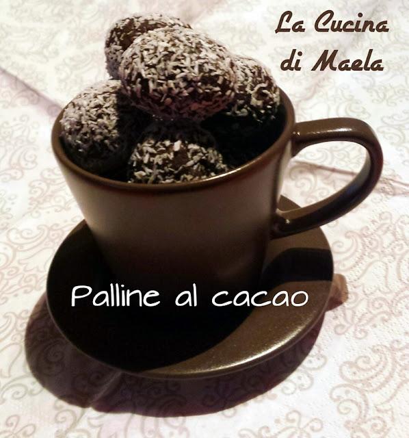 Palline al cacao ricoperte di cocco
