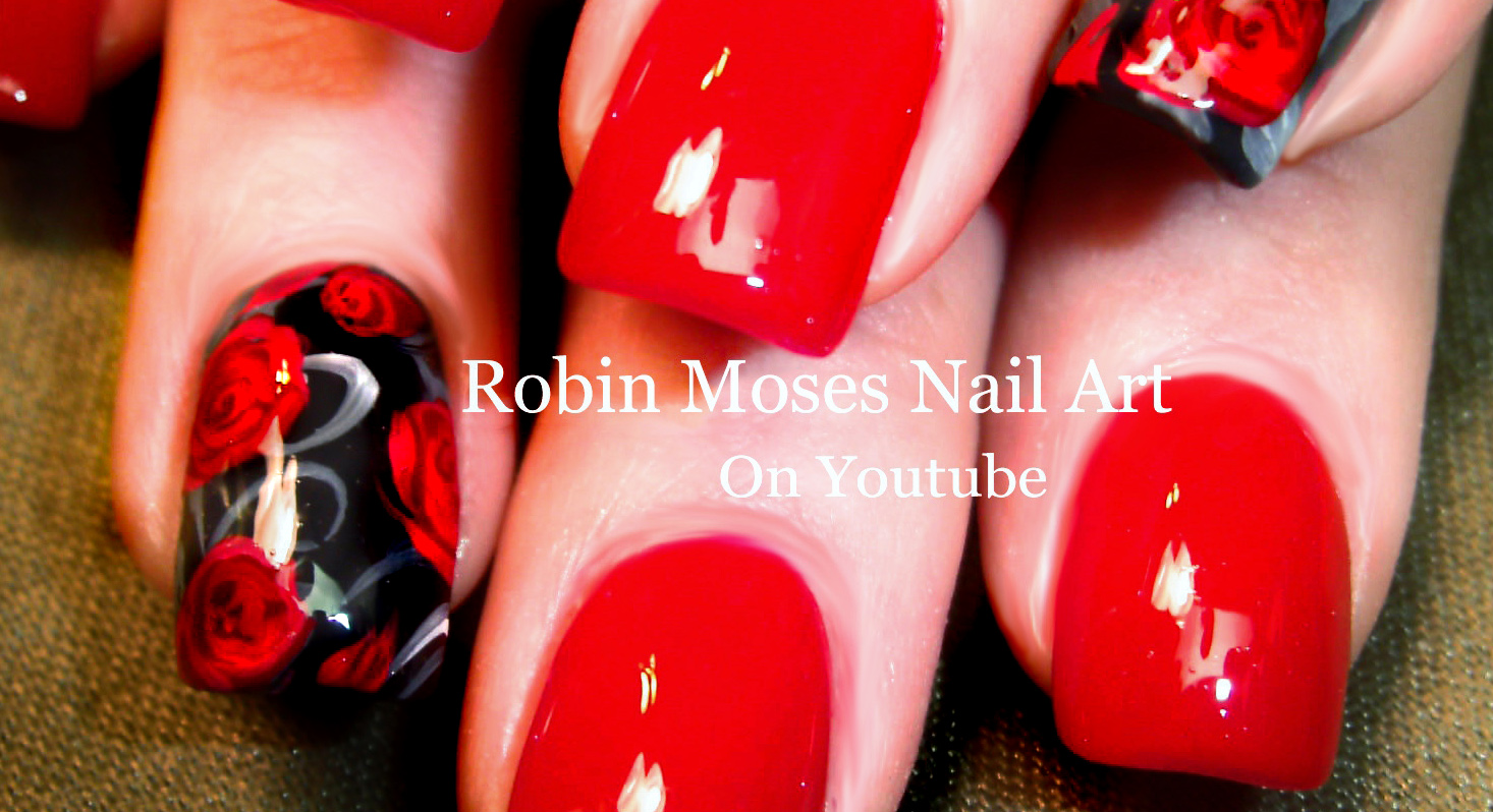 Nail Art Roses Easy - To Bend Light