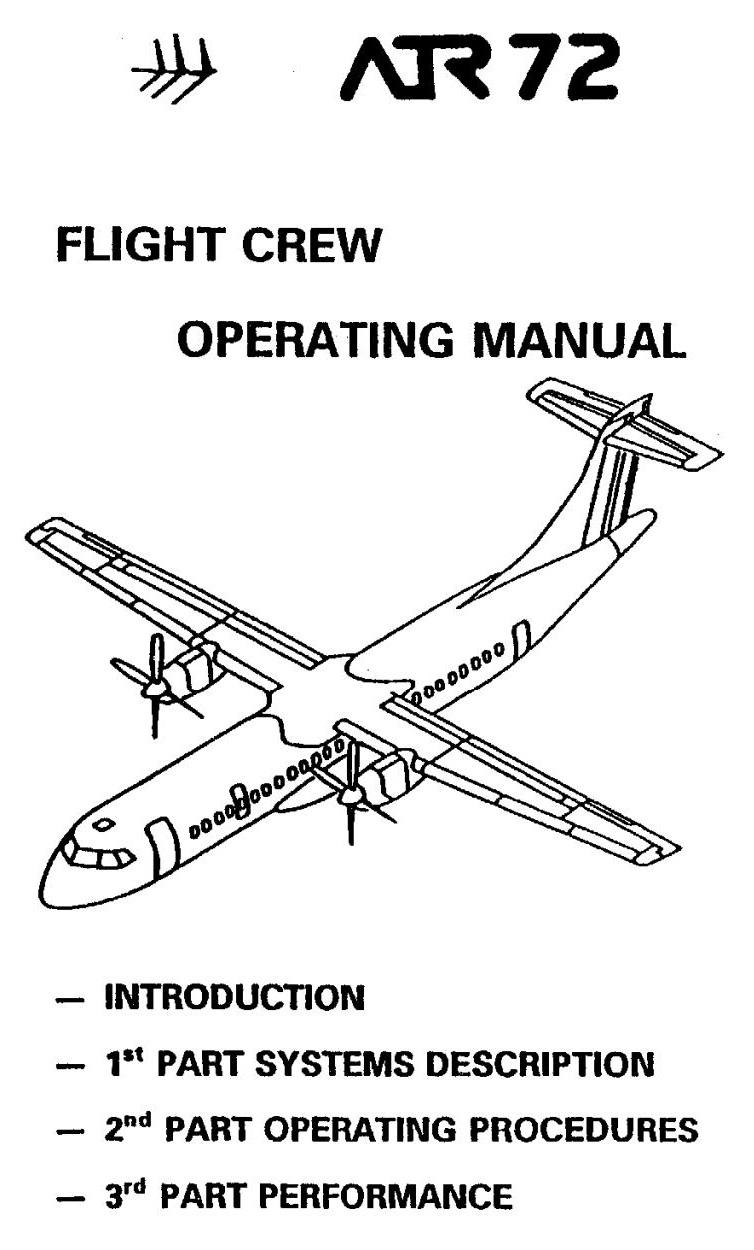 ARQUIVOS AERONÁUTICOS: Manual ATR-72 FCOM