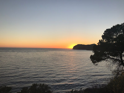 sunset over the sea on mallorca