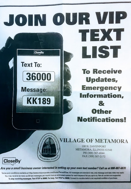 Metamora Herald Village test messaging emergency
