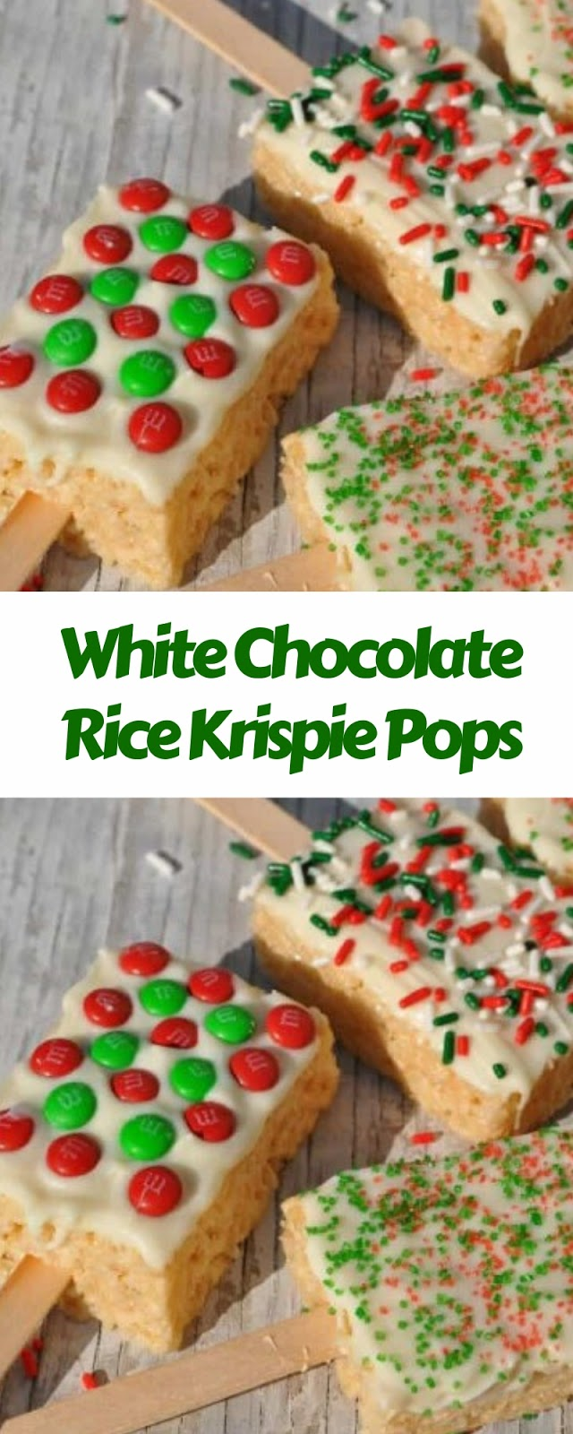 White Chocolate Rice Krispie Pops