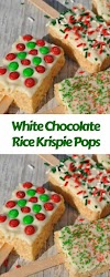 White Chocolate Rice Krispie Pops #christmas #snack