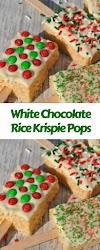 White Chocolate Rice Krispie Pops #christmas #snack