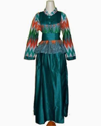 batik gamis kombinasi satin