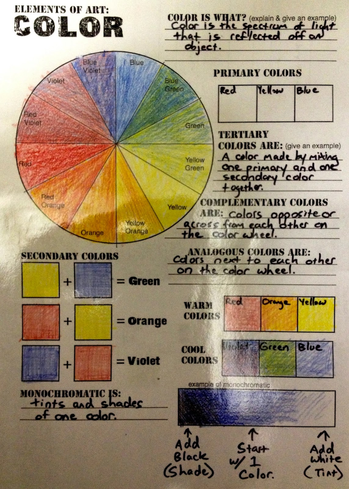 Art Room 170 Color Wheel Poster Due 11 18 14