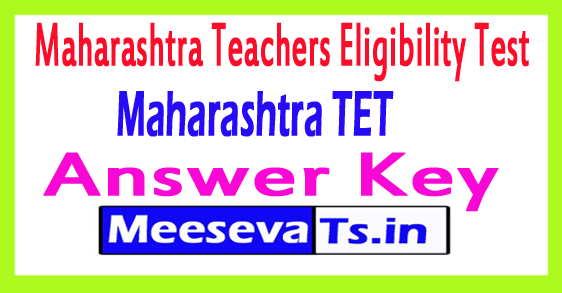 Maharashtra TET Answer Key 2018