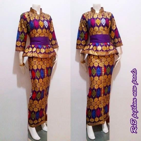 Model Baju Batik Wanita 2015: Baju Batik Wanita Model Peplum New Prodo