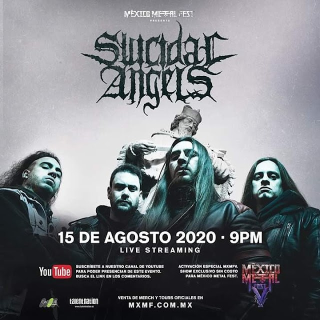 Suicidal Angels en live streaming por el México Metal Fest V