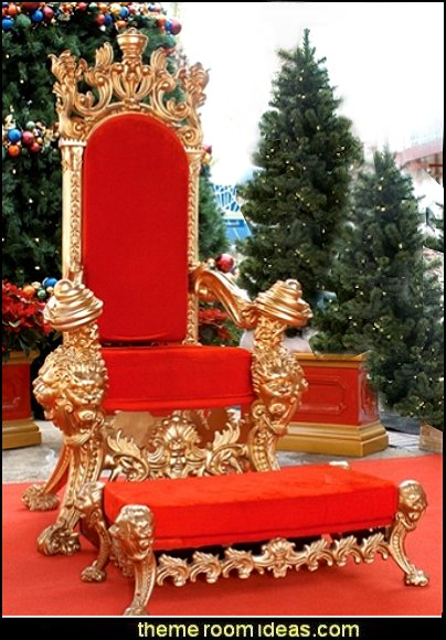 Santa Chair and Foot Rest  Christmas gifts - Christmas shopping - Christmas decorations - Santas shopping mall - Christmas decorating - gift ideas for mothers - gifts for men - gift ideas for women -  gift ideas for girls - gift ideas for boys -