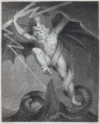 Thelemic Mysticism: Zeus Battling Typhon, by William Blake