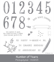 Number of Years Photopolymer Stamp