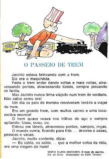 Leitura o passeio de trem