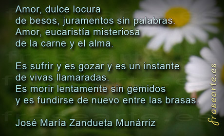 Poemas de amor - José María Zandueta Munárriz