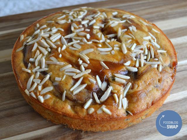 bananencake met amandel en Crème d'ipomée