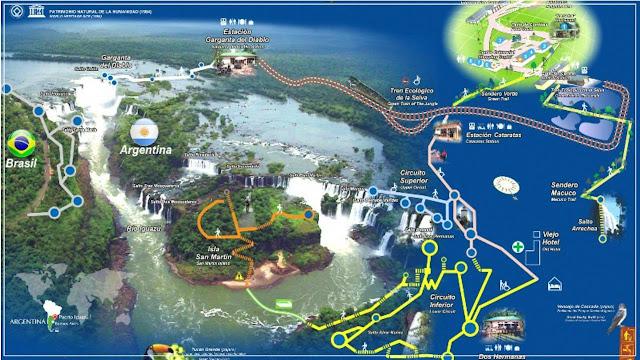 Parque Nacional Iguazú mapa