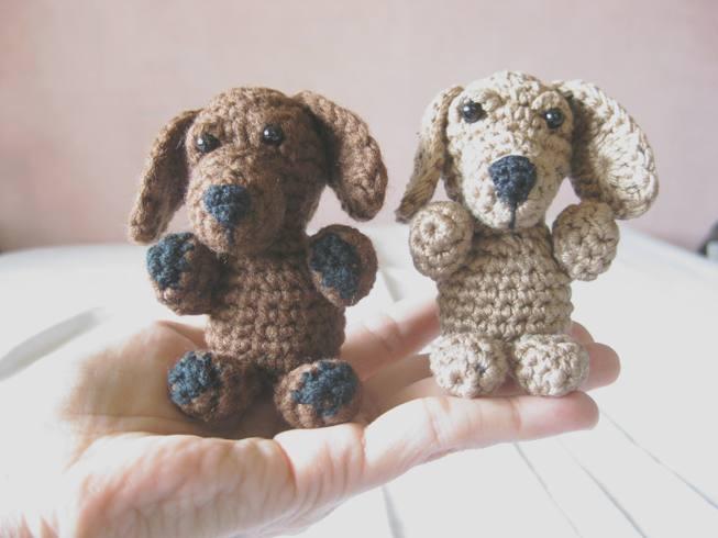 134 Crochet Pattern Dog Dachshund Genreh - Amigurumi PDF file by ... | 490x653