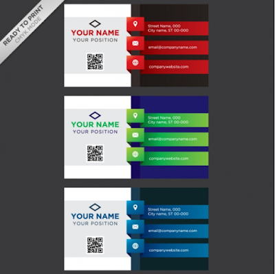Template Kartu Nama - Coloured Business Cards Collection