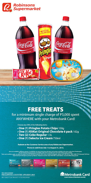 Metrobank Card promo, Spend Anywhere Promo, Robinsons Supermarket