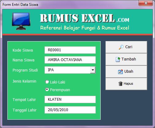 Aplikasi Form Data Entri Siswa Baru