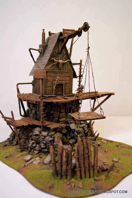 Wargaming Terrain Steampunk House For Malifaux Or