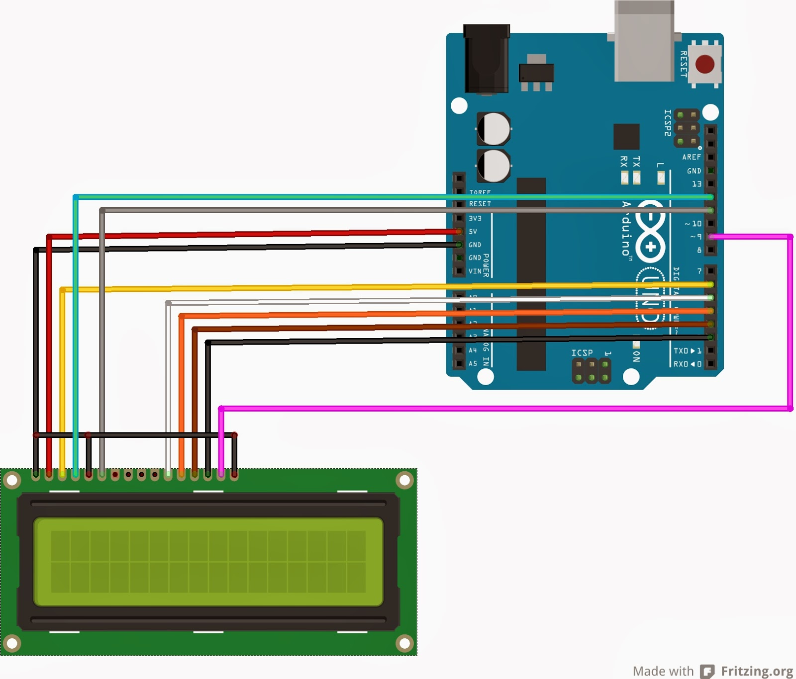 medium resolution of interfacing lcd without a potentiometer in arduino and ccs instructions burn the code and
