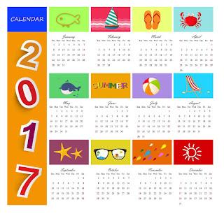 2017カレンダー無料テンプレート24
