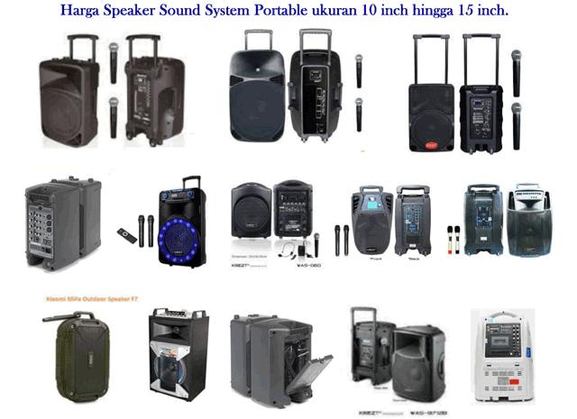 Harga Speaker Sound System Portable