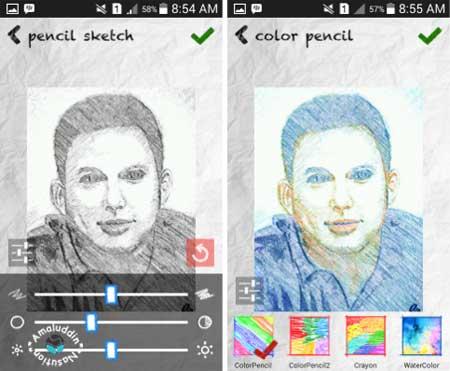 aplikasi edit foto SketchGuru dengan efek keren