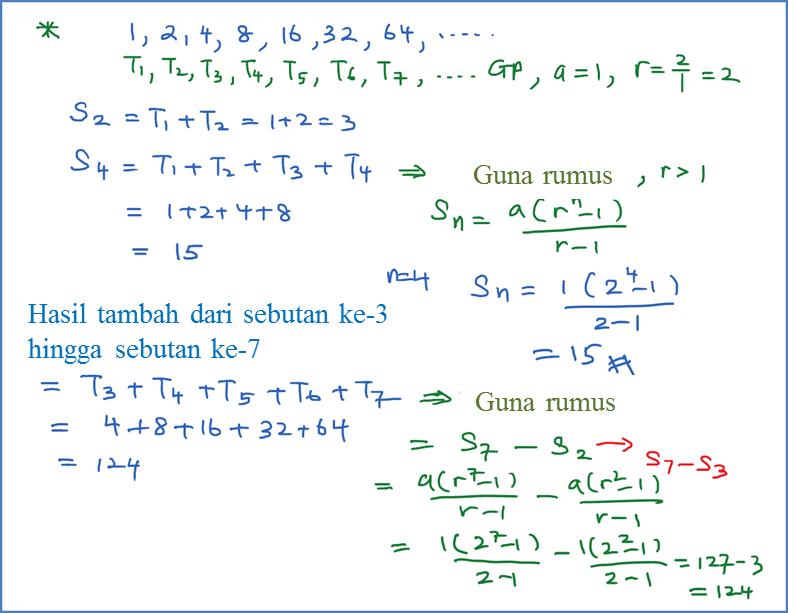 1.2.4 Hasil Tambah Suatu Janjang Geometri - Matematik